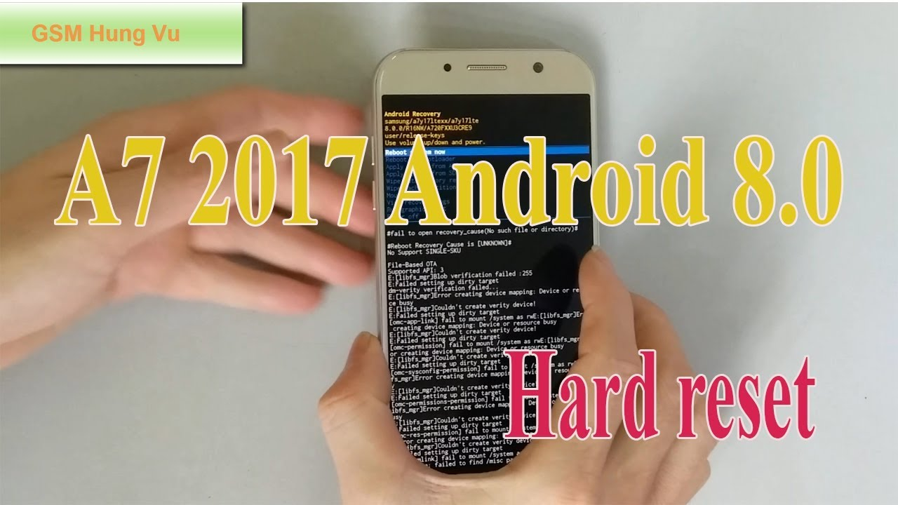 How to Hard Reset Samsung A7 2017 Android 8 0