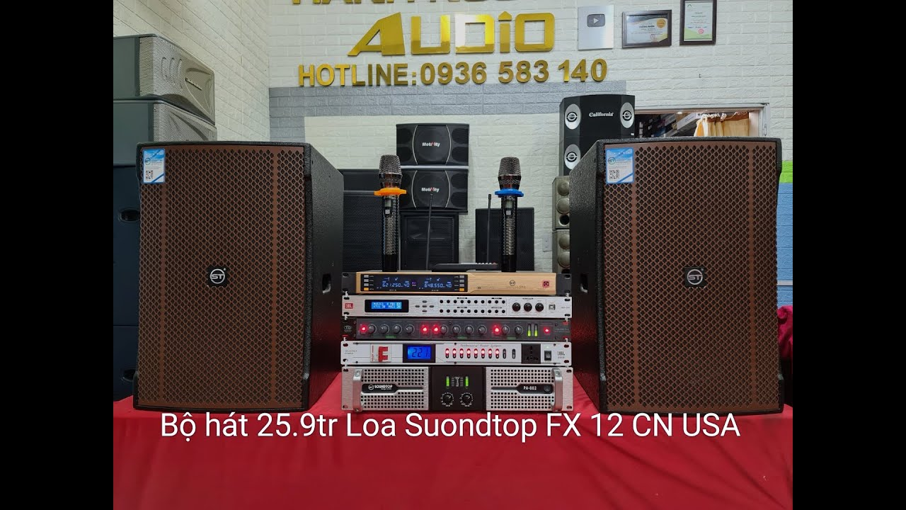 3/8/2020. Level2#. Bộ hát 25.9 tr SP nhập khẩu chính hãng. Loa ST FX 12. Đt 0936.583.140