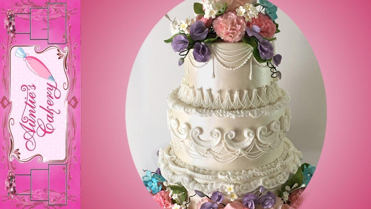 Spring Flower Wedding Cake Short Tutorial Youtube