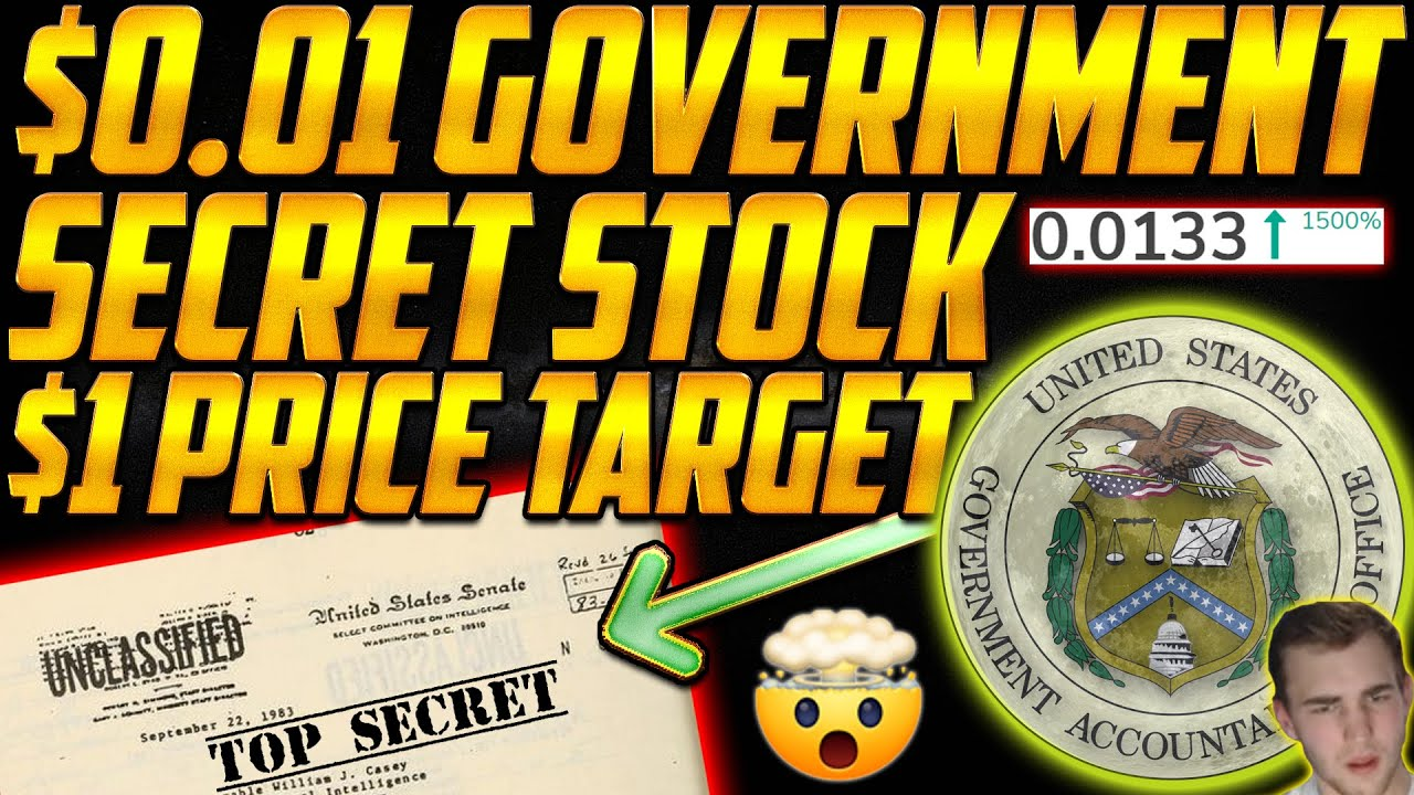A $0.01 SECRET Government Penny Stock has a $1 Price Target up 1500% Buy? 🤯