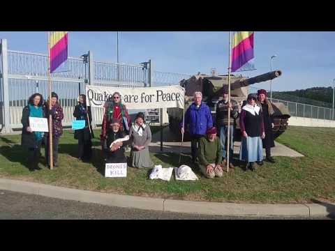 Chanting & Singing @ Peace Witness Protest, HQ JOC, Canberra