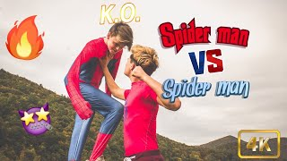 Red and blue, insect Vs Man... (Only one can survive)(bouje dies?)