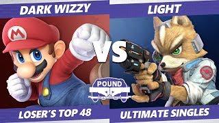 Pound 2019 SSBU - MVG Dark Wizzy (Mario) VS Rogue Light (Fox) Smash Ultimate Top 48 Losers