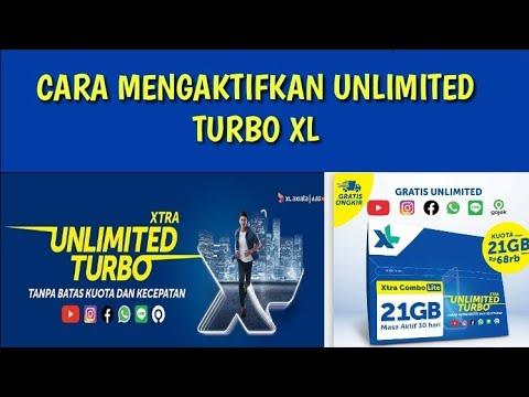 Cara mengaktifkan paket XL Unlimited Turbo - YouTube