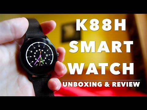 Unboxing & Review K88H Bluetooth Smartwatch For iPhone With Text Notifications, Siri & Motion Sensor