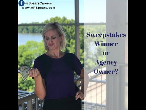 Your odds at $10k a month for life? Sweepstakes or Agency Ownership?