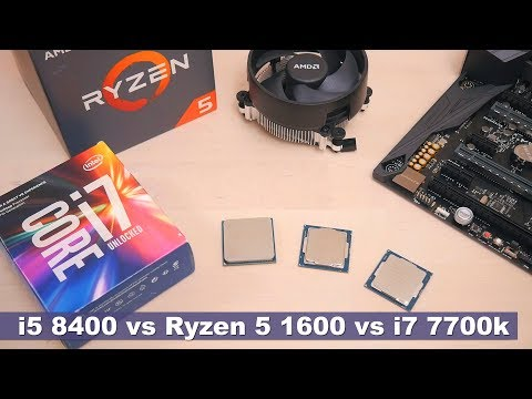 Самый дешёвый i5 Coffee Lake (i5 8400) vs Ryzen 5 1600 vs i7 7700k