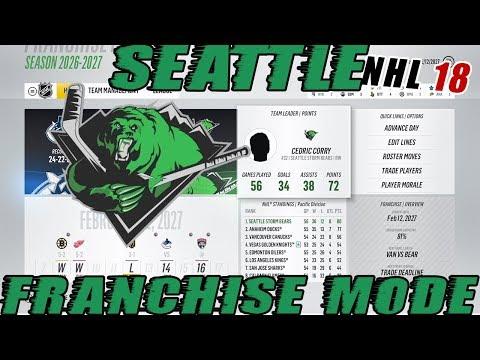 NHL 18: Seattle Franchise Mode #39 AGENT C VS VEGAS!
