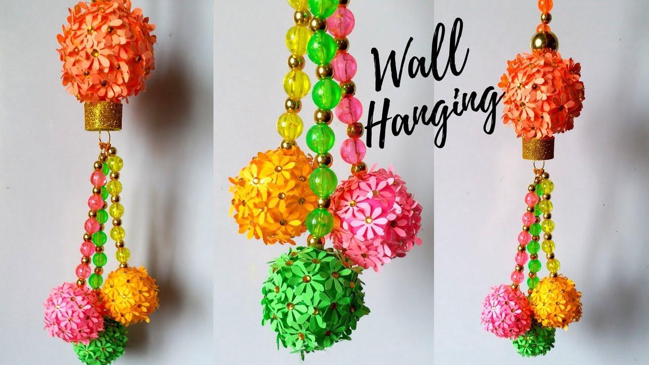 Diy Flower Ball Wall Hanging Wall Hanging Ideas Easy Wall