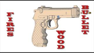 Beretta Pistol Rubberband Powered Gun Laser Scroll Saw Cnc Router Pattern Plans
