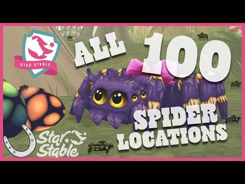 Star Stable Online ALL 100 Spider Locations 🐴 Star Stable Spider Locations