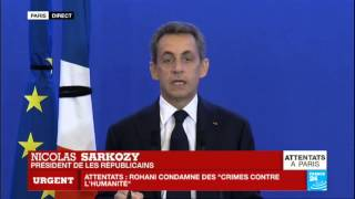 """Attentats de Paris - Nicolas Sarkozy: """"Les terroristes ont engagé la guerre à la France"""""""
