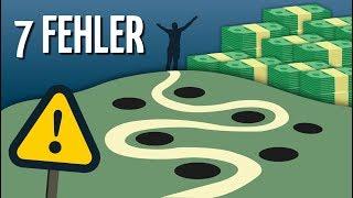 7 häufige Fehler auf dem Weg zur Finanziellen Freiheit