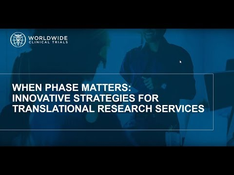 When Phase Matters  Innovative Strategies for Translational Research Services
