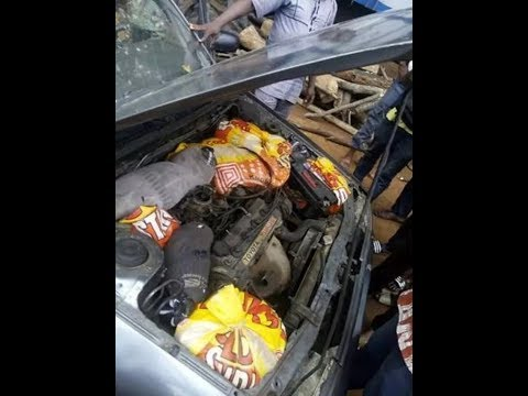 Nigeria Customs Service exposes strange places smugglers hide bags or rice (Photos)