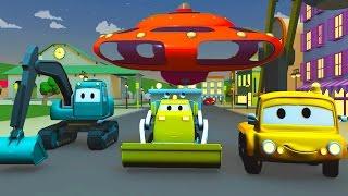 Строительная Бригада: Самосвал, Кран и Экскаватор строят Принцесса Шарлотта в Автомобильном Городе