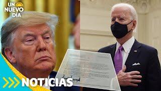 Carta de Trump a Biden: ¿qué dice en su mensaje?   Un Nuevo Día   Telemundo