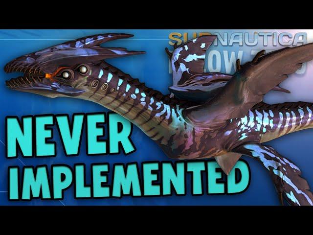 ALL CREATURES THAT WERE NEVER IMPLEMENTED! | Subnautica Below Zero