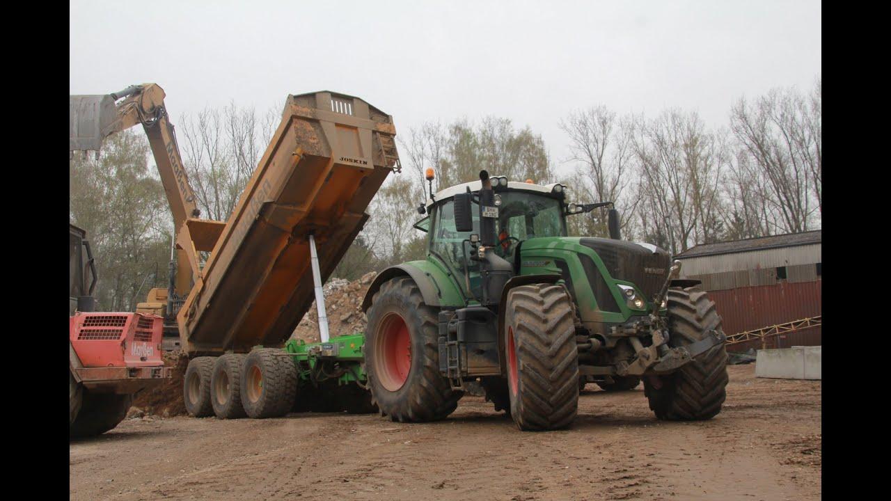 Ganz und zu Extrem Traktoren und Bagger im Baustelleneinsatz - Maaßen Tiefbau - YouTube #LL_19