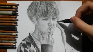 방탄소년단 BTS FIRE Jungkook speed drawing Kpop FanArt