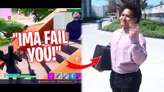 I Stream Sniped my College Teacher & he Did THIS to Me! I MADE HIM TURN OFF HIS STREAM!