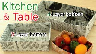新聞紙・チラシでゴミ箱 [厚底スリム] Disposable Newspaper Box thumbnail