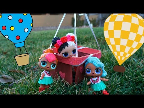 LOL SURPRISE DOLLS Go On A Hot Air Balloon Ride At The Fair With Barbie And Ken!