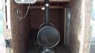 New Barrel Stove Setup - A Decent First Night