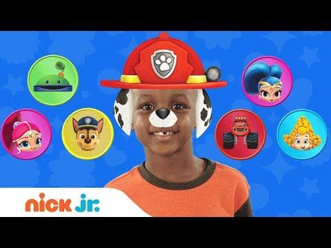 Play Junior Dress Up w/ PAW Patrol, Blaze, Bubble Guppies & More Favorites! | Nick Jr. Style