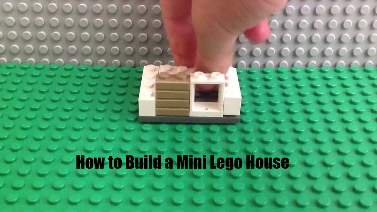How to build a mini lego house youtube for How to build a small home