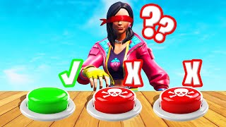 FORTNITE Guess The Button BLINDFOLD Challenge! (NUKE = LOSE)