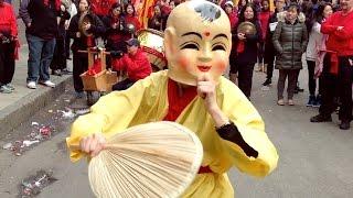2016 Lion Dance Buddha (小苹果 Music Song - Little Apple) Female Boston Chinatown Gund Kwok Monkey Year