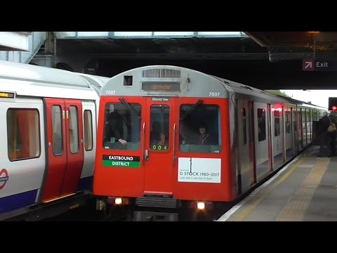 Last Day of London Underground D78 Stock on the District Line - 21st April 2017