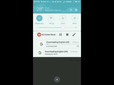 How to remove downloading English(UK) in MI hand sets