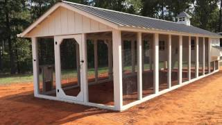 This video is about a custom coop we built for a customer in Jacksonville, Texas. The hen house is 10