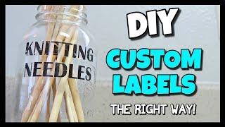 How To Make Custom Labels: Easy Tape Transfer! | I Am Kristin📍