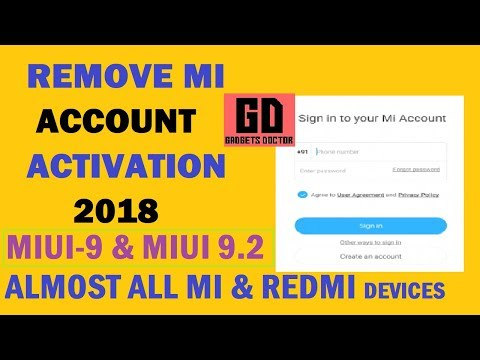 MIUI 9 BYPASS MI ACCCOUNT ON ALMOST ALL XIAOMI ANDROID 7 0 (Work-Miui9.2)