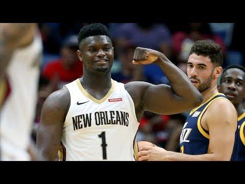 Zion Williamson 26 Points vs Rudy Gobert! 2019 NBA Preseason