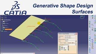 Catia V5 Eğitim(#36)Tutorial Generative Shape Design / Surfaces