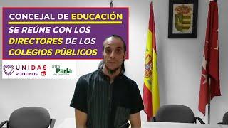📚🎥 ACTUALIZACIÓN SOBRE LA VUELTA AL COLE del CONCEJAL DE EDUCACIÓN