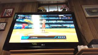 Playing wii and baseball and everything else