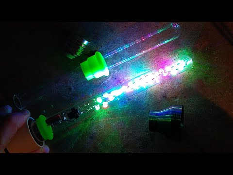 3D printed LED test-tube lamp.  (with adjustable 3D openSCAD file)