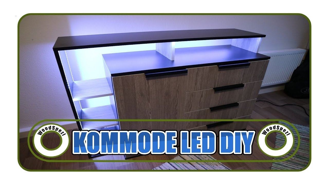 kommode mit led diy youtube. Black Bedroom Furniture Sets. Home Design Ideas