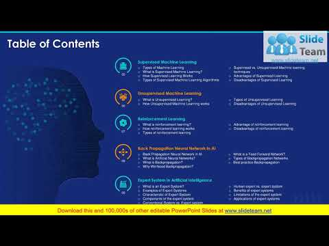 Artificial Intelligence Machine Learning Deep Learning Ppt Powerpoint Presentation Slide Templates Youtube