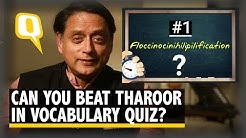Shashi Tharoor Turns Quiz Master: Is Your Vocabulary Up to Mark? | The Quint