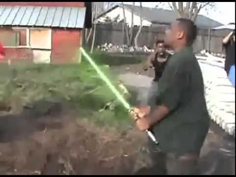 Black Thug Jedi Light Saber Gang Fight!!! Daymmm Nigga!!!