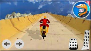 Super Hero Bike Mega Ramp by MTS Free Games - SuperHero Motorbike Racing Android Gameplay