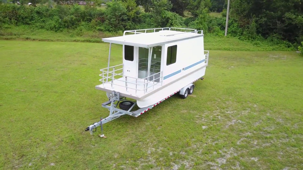 Lil Hobo Trailerable Houseboat Youtube