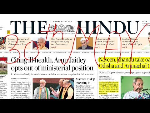 The Hindu Newspaper 30th May 2019 Complete Analysis