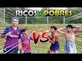 FUTEBOL RICO X POBRE VALENDO MATERIAL ESCOLAR 2019 QUEM GANHOU?! ‹ Rikinho ›